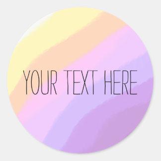 Sticker Rond couleurs au néon lumineuses mignonnes de licorne