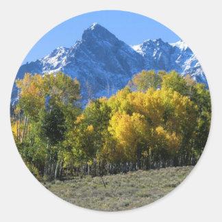 Sticker Rond Couleurs d'automne du Colorado