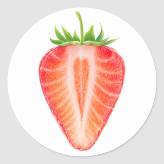 Sticker Rond Coupez la fraise