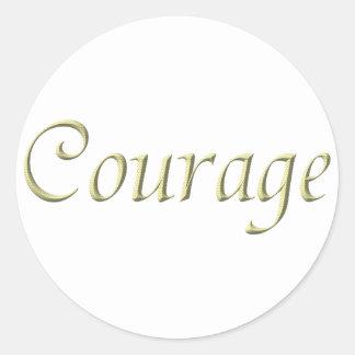 Sticker Rond Courage