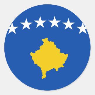 Sticker Rond Coût bas ! Drapeau de Kosovo