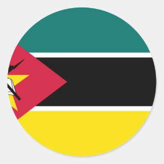 Sticker Rond Coût bas ! Drapeau de la Mozambique