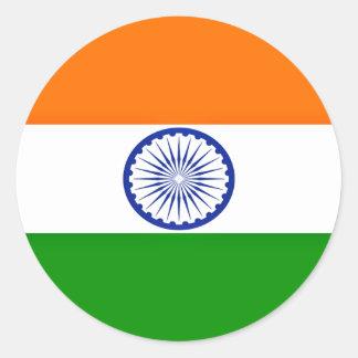 Sticker Rond Coût bas ! Drapeau de l'Inde