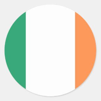 Sticker Rond Coût bas ! Drapeau de l'Irlande