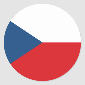 Sticker Rond Coût bas ! Drapeau de République Tchèque