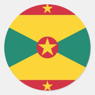 Sticker Rond Coût bas ! Drapeau du Grenada