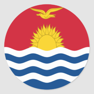 Sticker Rond Coût bas ! Drapeau du Kiribati