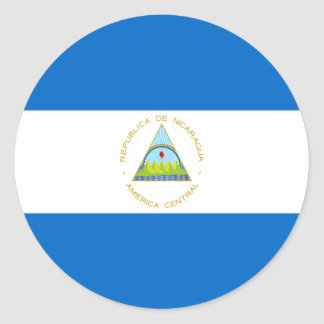 Sticker Rond Coût bas ! Drapeau du Nicaragua