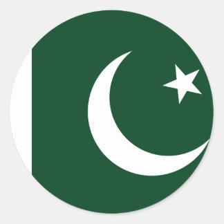 Sticker Rond Coût bas ! Drapeau du Pakistan