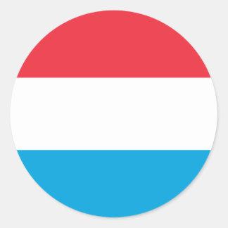 Sticker Rond Coût bas ! Le Luxembourg diminuent