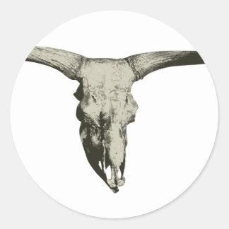 Sticker Rond Crâne de bison