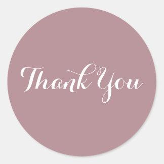 Sticker Rond Créez votre propre Merci rose poussiéreux