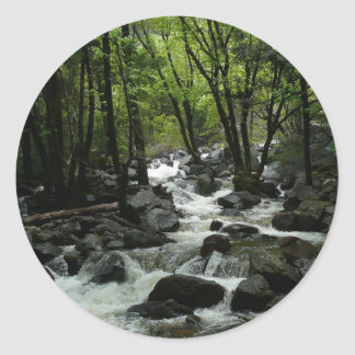 Sticker Rond Crique de Bridalveil en parc national de Yosemite
