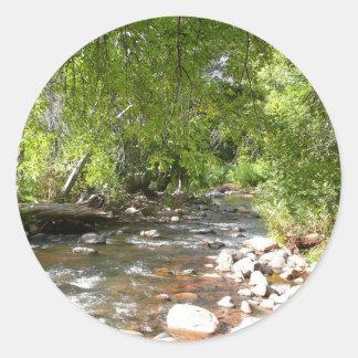 Sticker Rond Crique II de chêne dans la photographie de nature