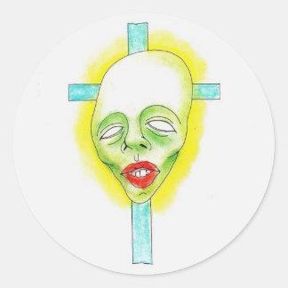 Sticker Rond Croix