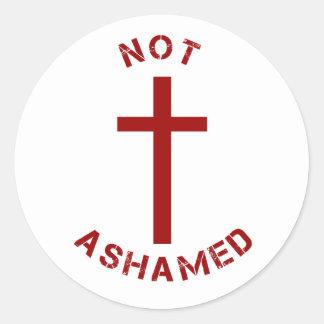 Sticker Rond Croix-Rouge de chrétien et conception non