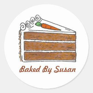 Sticker Rond Cuisson personnalisée cuite au four par la tranche
