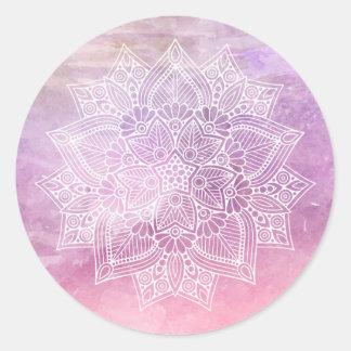Sticker Rond Curatif holistique et chant religieux de mandala