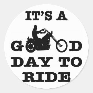 Sticker Rond Cycliste c'est un beau jour à monter
