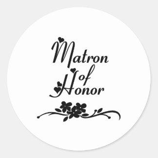 Sticker Rond Dame de honneur