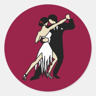 Sticker Rond Danseurs de tango