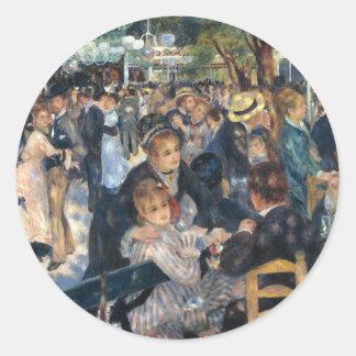 Sticker Rond Dansez à la La Galette de Le Moulin de par Renoir