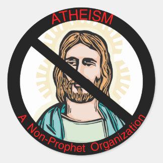Sticker Rond D'athéisme prophète non