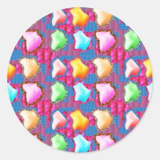 Sticker Rond De fête : L'iceberg de GLACE aiment des formes des
