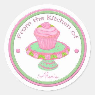 Sticker Rond De la cuisine du support fait sur commande de