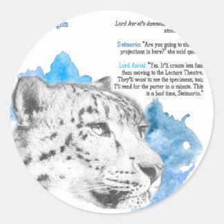 Sticker Rond Démon de Stelmaria - d'Asriel de son matériel