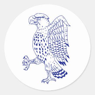 Sticker Rond dessin de marche Pointu-shinned de faucon