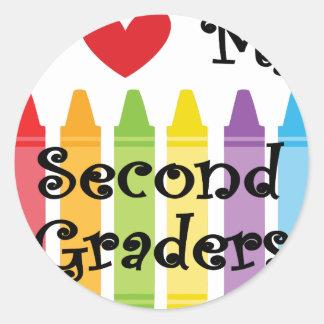 Sticker Rond deuxième catégorie teacher2