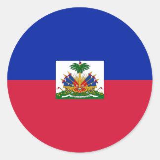 Sticker Rond d'Haïti de Drapeau - drapeau du Haïti