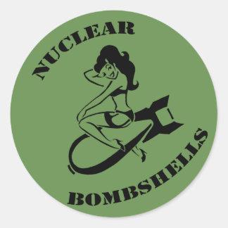 Sticker Rond Dispositif d'affichage nucléaire de soutien de