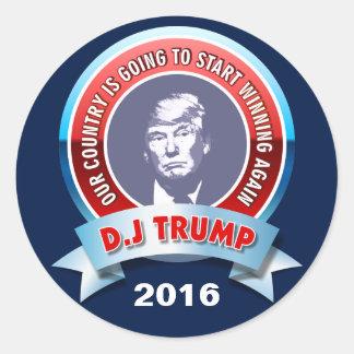 Sticker Rond Donald J. Trump 2016