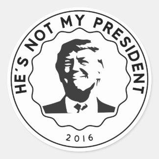 Sticker Rond Donald Trump n'est pas mon président