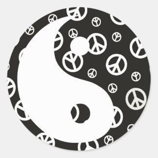Sticker Rond Donnez à paix une occasion 1 Yin et Yang