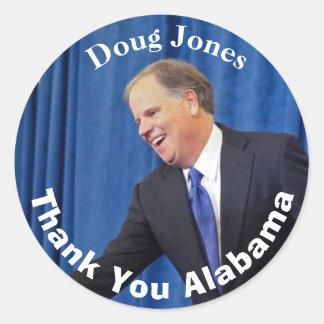 Sticker Rond Doug Jones - Merci Alabama