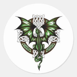 Sticker Rond dragon celtique