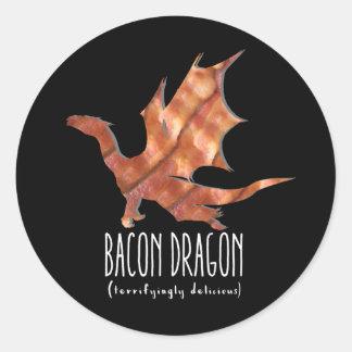 Sticker Rond Dragon de lard