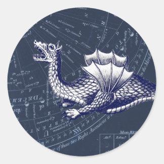 Sticker Rond Dragon sur le diagramme de Bue Gobal