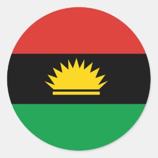 Sticker Rond Drapeau de Biafra (Bịafra)