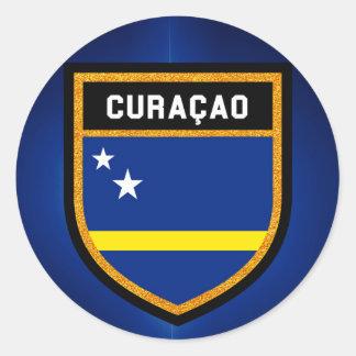 Sticker Rond Drapeau de Curaçao