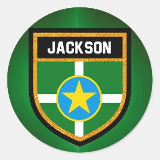 Sticker Rond Drapeau de Jackson