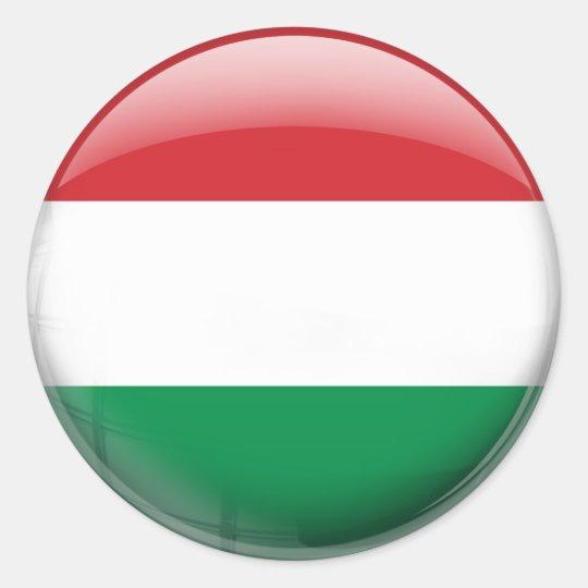 Drapeau Rond sticker rond drapeau de la hongrie | zazzle.be