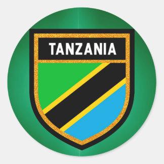 Sticker Rond Drapeau de la Tanzanie