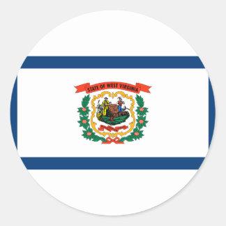 Sticker Rond Drapeau de la Virginie Occidentale