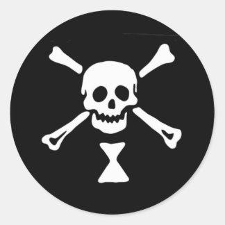 Sticker Rond Drapeau de pirate d'Emanuel Wynne