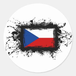 Sticker Rond Drapeau de République Tchèque