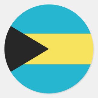 Sticker Rond Drapeau des Bahamas